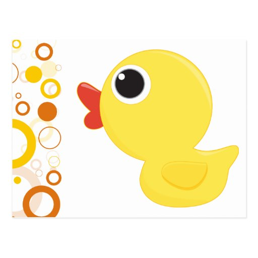 Rubber Duckie Postcard