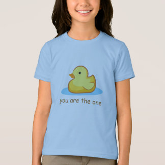 Rubber duckie you are the one kid t-shirt