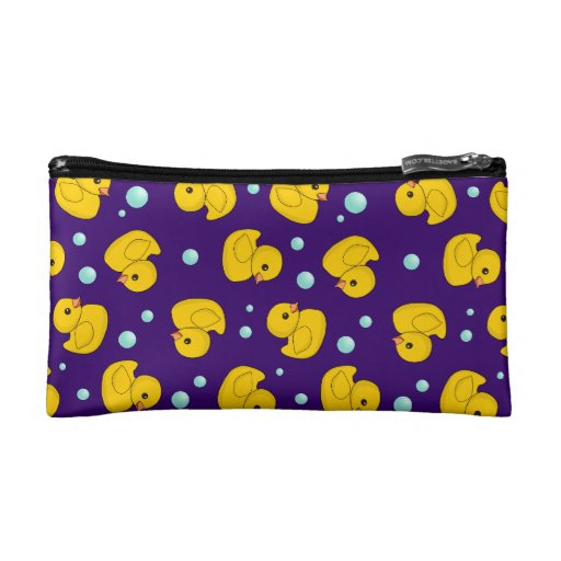 Rubber Duckies and bubbles Cosmetics Bags