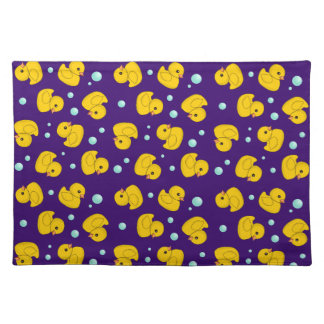 Rubber Duckies and bubbles Place Mat