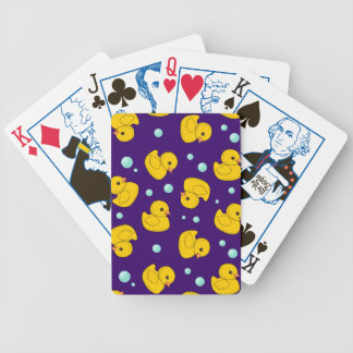 Rubber Duckies and bubbles purple playing cards