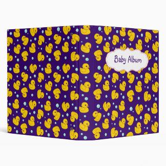 Rubber Duckies baby photo album / binder