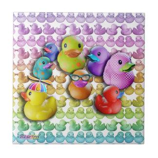 Rubber Duckies Ceramic Tile