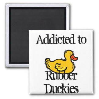 Rubber Duckies 2 Inch Square Magnet