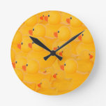Rubber duckies - one looking the other way wall clock