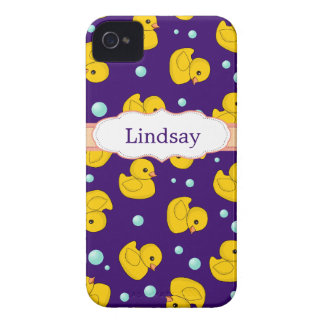 Rubber Duckies pattern cute iphone 4 case