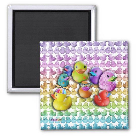 Rubber Duckies Pop Art Magnet