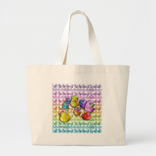 Rubber Duckies SQ Large Tote Bag