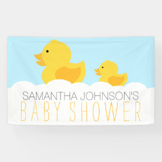 Rubber Duckies Yellow Neutral Baby Shower Banner