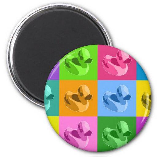 Rubber Ducks 2 Inch Round Magnet