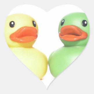 Rubber Ducks Heart Sticker