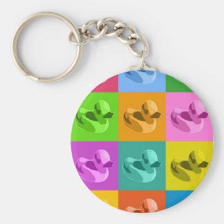 Rubber Ducks Basic Round Button Keychain