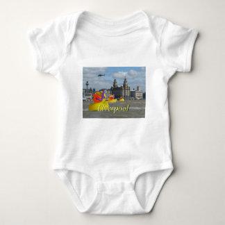 Rubber Ducks On The Mersey Baby Bodysuit