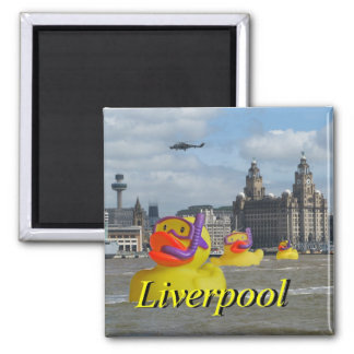 Rubber Ducks On The Mersey Magnet