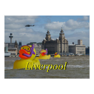 Rubber Ducks On The Mersey Poster