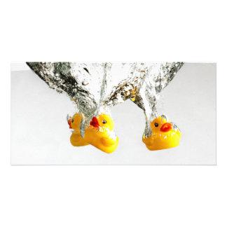 Rubber Ducks Customized Photo Card