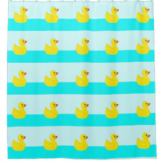 Rubber Duck Shower Curtains   Zazzle