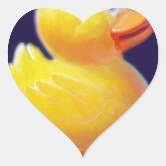 Rubber Duck's Vacation Heart Sticker
