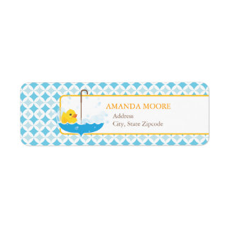 Rubber Ducky Address Label