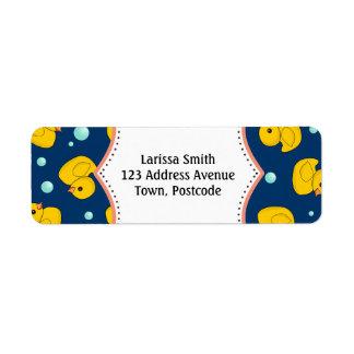 Rubber Ducky address label