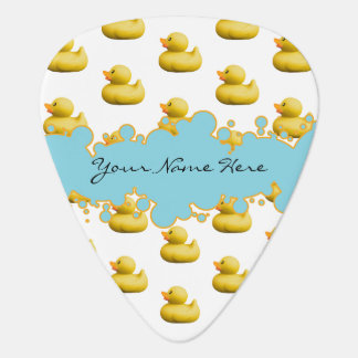 Rubber Ducky and Blue Bubbles Banner Baby Shower Guitar Pick