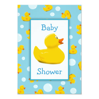 Rubber Ducky and Bubbles Theme Baby Shower Invite