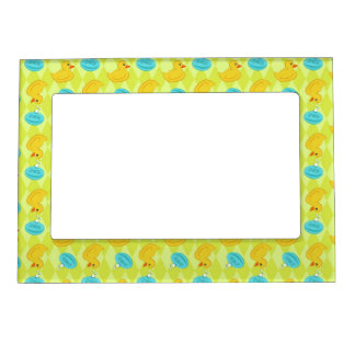 Rubber ducky and soap pattern. magnetic picture frame