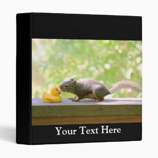 Rubber Ducky and Squirrel Kissing 3 Ring Binder