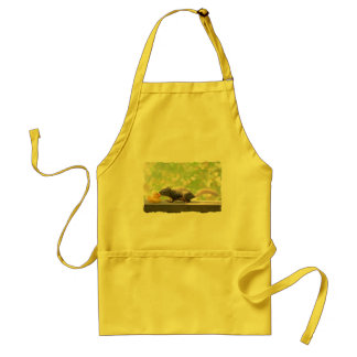 Rubber Ducky and Squirrel Kissing Adult Apron