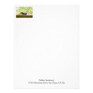 Rubber Ducky and Squirrel Kissing Letterhead