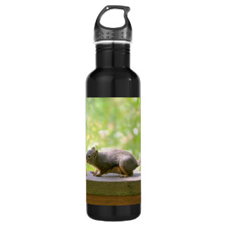 Rubber Ducky and Squirrel Kissing Stainless Steel Water Bottle