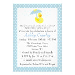 Rubber Ducky Baby Boy Shower invite - customize
