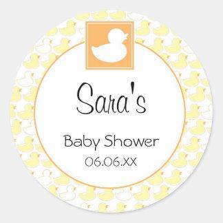 Rubber Ducky Baby Invitation or Favor Sticker