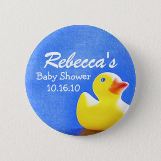 Rubber Ducky Baby Shower Button