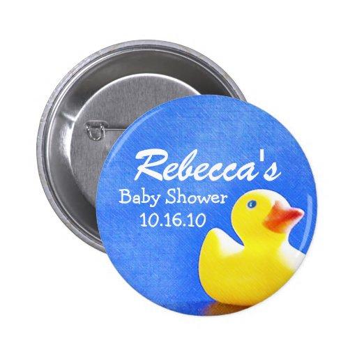 rubber ducky baby shower button zazzle