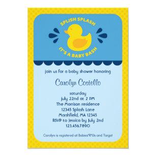 Rubber Ducky Baby Shower Invitations Zazzle