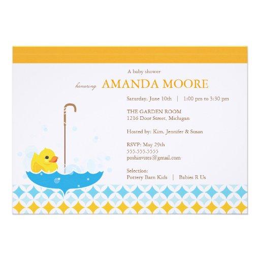 rubber ducky baby shower invitation 5 x 7 invitation card zazzle