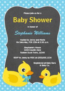 Rubber ducky baby shower invitations zazzle rubber ducky baby shower invitation blue yellow filmwisefo