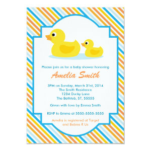 rubber ducky baby shower invitations baby shower invitations