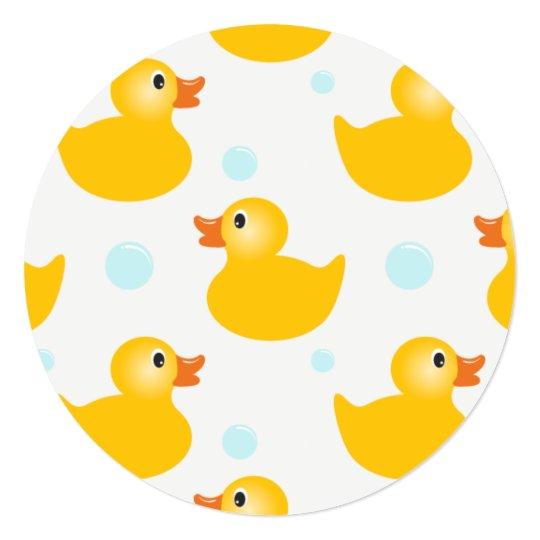 Rubber Ducky Baby Shower Invitations Zazzle Com