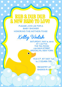 Rubber ducky baby shower invitations zazzle rubber ducky baby shower invitations filmwisefo