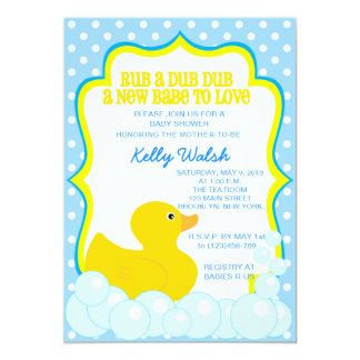 Rubber Ducky Baby Shower Invitations Announcements Zazzle