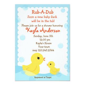 "Rubber Ducky Baby Shower invitations 5"" X 7"" Invitation Card"