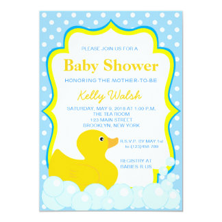 Delightful Rubber Ducky Baby Shower Invitations