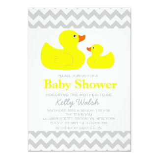 Ducky Baby Shower Invitations Announcements Zazzle