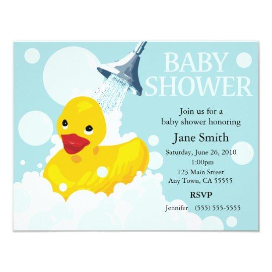 Rubber Ducky Baby Shower Invite Zazzlecom