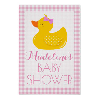 Rubber Ducky Baby Shower Poster