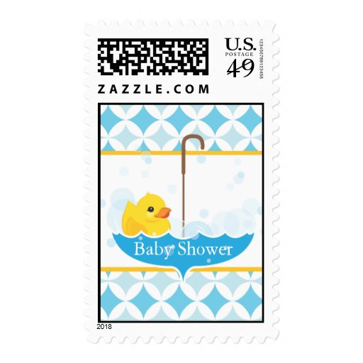 Rubber Ducky Baby Shower Stamp
