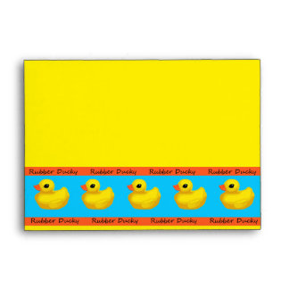Rubber Ducky Banded Invitation Envelope