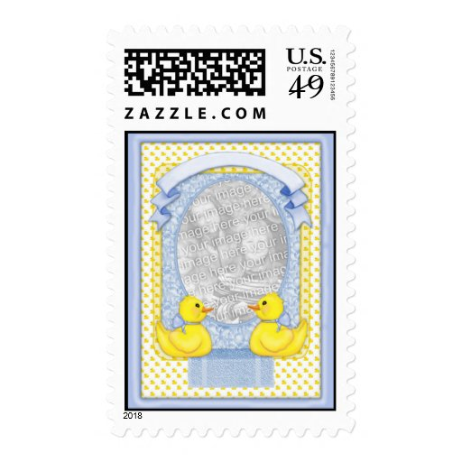 Rubber Ducky Bath - Blue Template Stamps